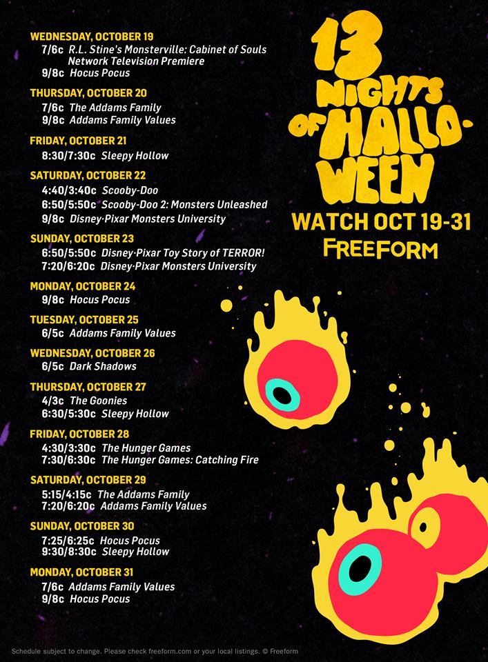 18th Annual '13 Nights of Halloween' lineup announced - Cup of Moe
